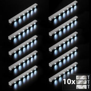 10 barre luminose a LED con sensore di movimento